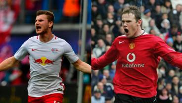 Timo Werner and Wayne Rooney