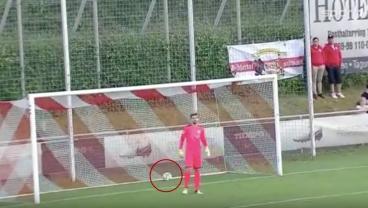 German Defender Philip Heise Sends Ball On A 50-Yard Magic Carpet Ride