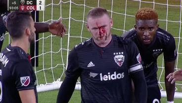 Rooney Opens MLS Account By Going Five-Hole On Tim Howard (And Breaks His Nose)