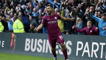 Watch Sergio Aguero's Sublime Hat Trick In Man City's 6-0 Rout Of Watford