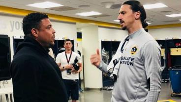 Ronaldo Visits Zlatan, Jokes About His Belly And Possible MLS Return
