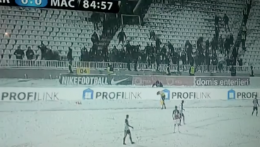 Watch: Partizan Belgrade Fans Get Into Christmas Spirit By Pelting Assistant Referee With Snowballs
