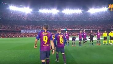 El Clasico Begins With Over 90,000 Singing The Barca Anthem A Cappella