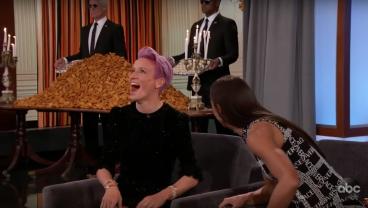 Jimmy Kimmel Serves Alex Morgan, Megan Rapinoe Mountain Of Chicken Nuggets In Lieu Of White House Visit