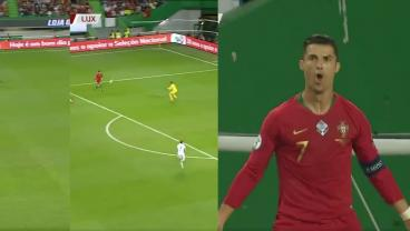 Cristiano Ronaldo's Defense Sets Up His Ungodly Chipped Goal