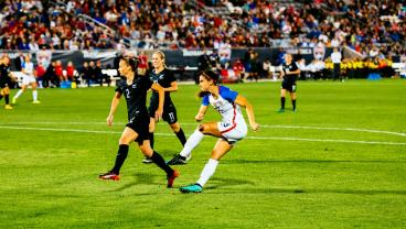 Alex Morgan Hammers A Sensational Strike For The USWNT Against New Zealand