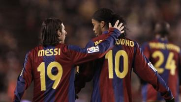 Before Ronaldinho Gave Him No. 10, These Are The 19 Best Goals Messi Scored As No. 19
