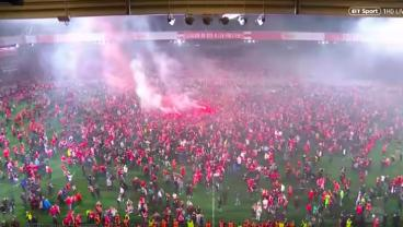 Absolute Scenes In Berlin As Union Achieves Promotion To Bundesliga For First Time Ever