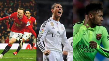 Highest paid players: Neymar, Rooney, Ronaldo