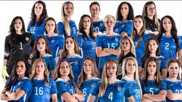 The USWNT team photo