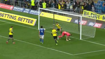 Chris Maguire trolls the goalkeeper.