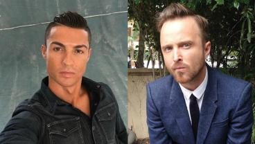 Cristiano Ronaldo and Aaron Paul play poker.