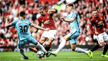 Ibrahimovic's Absurd Volley Not Enough As Man City Defeat Man United 2-1