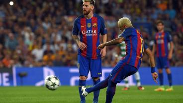 The Only Surprising Thing About Neymar's Free Kick Goal Is Messi Didn't Take It