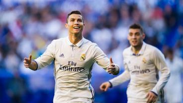 Alaves Fan Moons Cristiano Ronaldo During Goal Celebration
