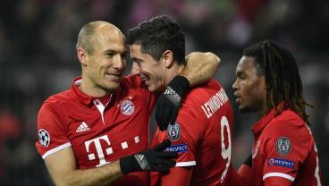 Bayern Munich defeated Atletico Madrid 1-0.