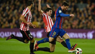 Lionel Messi Scores His Third Free Kick In Three Games To Overcome Bilbao