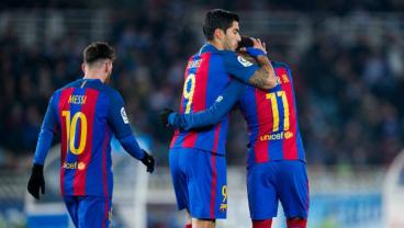 Messi, Suarez And Neymar All Score In Barca's 4-0 Win Over Eibar