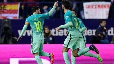 World-Class Goals From Suarez And Messi Put Barca On Cusp Of Copa Del Rey Final