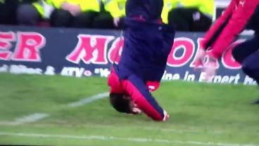 Watch Rangers' Manager Do A Headstand After A Bad Miss