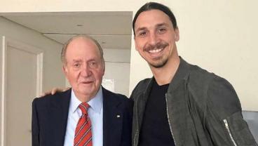 Zlatan Met The Former King Of Spain