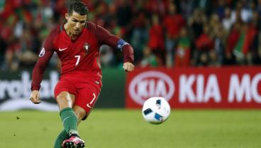 Cristiano Ronaldo Joins Elite International Group With Pioneering Free Kick