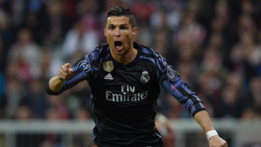 Cristiano Nets His 100th Goal In European Competition, Sinks 10-Man Bayern