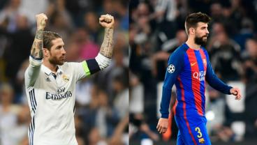 Sergio Ramos Claps Back After Gerard Pique Flames Real Madrid