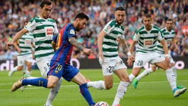 Lionel Messi Scores A Wonder Goal After Dribbling From The Halfway Line