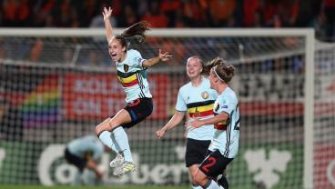 Belgium's Tessa Wullaert Scored The Most Bizarre Long-Range Goal Of The Summer