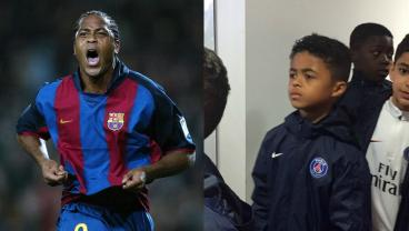Patrick Kluivert and Shane Kluivert