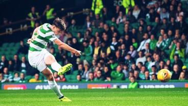 Celtic's Kieran Tierney Unleashes A Thunderbolt In The Scottish League Cup