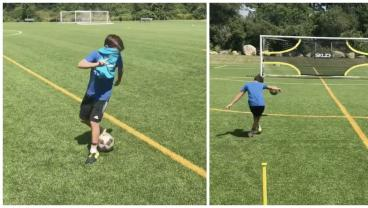 Young Footballing Wizard Has More Skill Than You Blindfolded