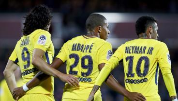 PSG Trifecta Of Neymar, Mbappe And Cavani All Score In 5-1 Win Over Metz