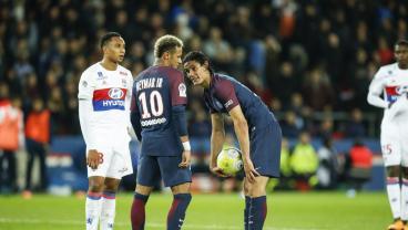 Neymar and Edinson Cavani argument
