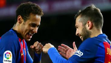Jordi Alba blasts Neymar