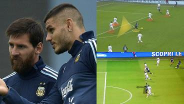 Mauro Icardi's Movement Is Next Level Now And Messi Must Be Loving It