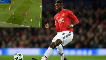 Watch Paul Pogba Creatively Eliminate 8 Defenders From An Attacking Situation
