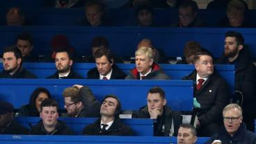 Arsene Wenger Sits In Press Box For Boring Draw