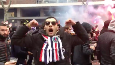 Watch The Crazy Scenes As PSG Fans Invade Madrid Ahead Of Champions League Clash