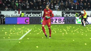 Eintracht Frankfurt Fans Air Grievances By Throwing Tennis Balls On The Field