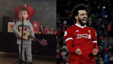 Adorable Child Sings Adorable Song About Mohamed Salah