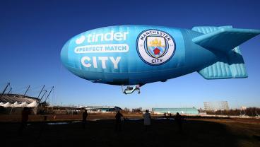 Manchester City Turns Tinder Blue