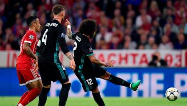 Marcelo's Thunderous, 18-Yard Half-Volley Gives Real Their Vital Away Goal