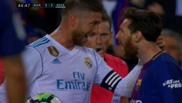 Shit Hits The Fan In El Clasico As Messi Goes Full Goon And Sergi Roberto Sees Red