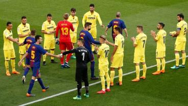 Classy Villarreal Honors Barcelona Title, Iniesta Career