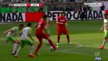Jonas Hector Eliminates Two Defenders With An Outrageous Turn Before Chipping The Keeper