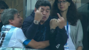 Diego Maradona Is Doing Everything In His Ability To Help Argentina Win