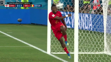 Michy Batshuayi Sums Up All Our Feelings On England-Belgium With Celebration Gone Wrong