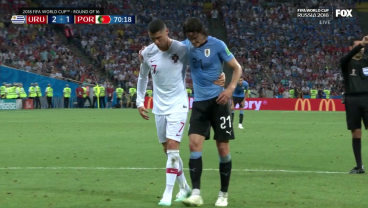 Ronaldo Follows Messi Out Of World Cup Thanks To Cavani's Master Class